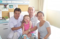 Aine in China with Doctor, Dad and translator