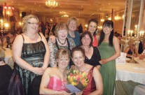 Ailish, Jacinta, Kathleen, Emma, Aisling, Venie, Caroline and Mary at People of the Year Ball