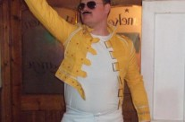 Colin as Freddie Mercury at the night of the Darts Tournament