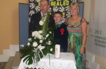 Conor's Confirmation With Flowers Representing Aoife
