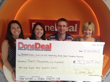 DoneDeal Cheque Presentation