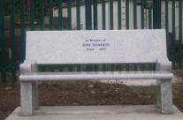 Aine's Granite Bench That Stands Proudly Overlooking The School, St. Senans Primary School, Enniscorthy Next To The Playground