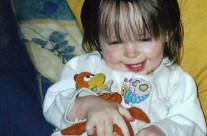 Aoife With Her Cuddly Toy Chic-Chic