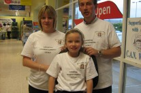 Bag packing in memory of the girls