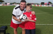 Brother Conor doing mascot for the Liverpool Legends
