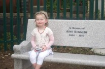 Grace So Proud To Sit On Her Angel Sister's Bench And Take It All In