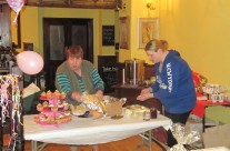 Mary and Aisling Walsh Helping At Coffee Morning