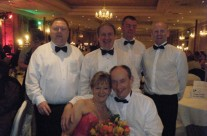 Paul, Colm, Pat, Ger, Caroline and Matt at People of the Year Ball