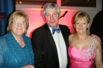 Aunt Kathleen McAllister, Michael Leister R.T.E and Caroline at People of the Year Ball