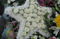 Star Wreath at Aine's Funeral